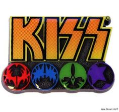 """KISS Rock Band LOGO & ICONS 1"""" Metal / Enamel PIN by Main Street 24/7. $7.99. Brand New Licensed  KISS ROCK BAND LOGO & ICONS METAL/ENAMEL PIN  Brand New Licensed Kiss Rock Band Logo & Icons Pin   Metal Pin with Enamel Finish Measures 1 inches wide. Save 11%!"""