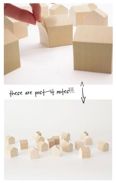 i love post its and houses, so house shaped post its = awesome