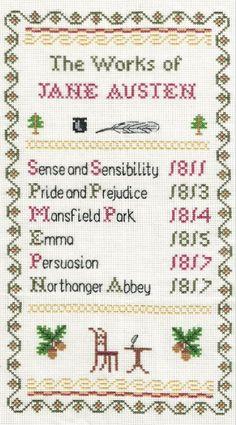 The Works of Jane Austen Sampler Cross Stitch Kit: