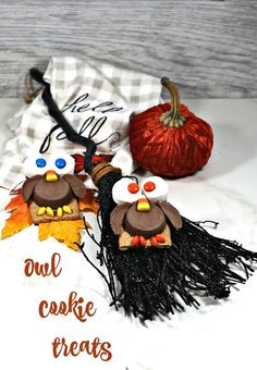 These cute owl cookies are fun to make and the kids will love them. Best of all they are a no bake Halloween treat. #owlcookies #Halloweencookies #halloweenowlcookies #halloweensnacks Halloween Snacks For Kids, Halloween Owl, Adult Halloween Party, Halloween Projects, Halloween Candy, Favorite Candy, Favorite Holiday, Owl Snacks, Halloween Pumpkin Cookies
