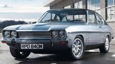 1973 Ford Capri The GXL was the top of the range model of the facelifted Capri Ford Capri, Ford Classic Cars, Best Classic Cars, Ford Motor Company, Retro Cars, Vintage Cars, Mercury Capri, British Sports Cars, British Car