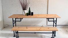 DIY: industriële tafel van metalen buizen