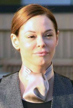 Rose McGowans slicked back chignon