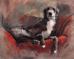 Lurcher Art | Settin' Pretty Canine Art Gallery