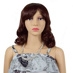 RightOn 14 Inches Girls Women Middle Length Curly Wig Hea…