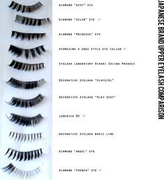 Japanese Gal False Eyelash Comparison - These are not nearly as soft and natural-looking as but they are good for training before upgrading to your luxurious Makeup Geek, Beauty Makeup, Hair Makeup, Kei Visual, Angel Eyes, War Paint, Natural Looks, False Eyelashes, Makeup Brushes