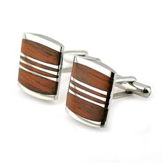 Fifth anniversary gift ideas for him - Classic wood cufflink