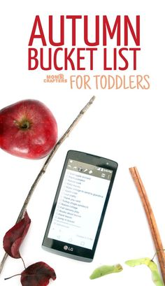 A huge list of activities for toddlers to do in the fall! Click to see this autumn bucket list for toddlers, full of fun kids activities and crafts with pumpkins, fall leaves, apples, and more!