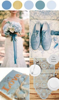 Color Story | Dusty Blue Summer Fête