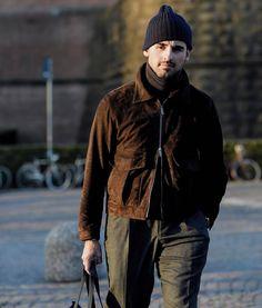 @maximscandinavia - killing it in his La Stoffa suede jacket.