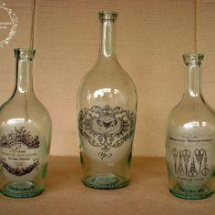 trio de botellas