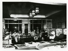Another interior shot of the Rookwood Room during #WorldWarII while the room was used for the #USO. #CincyMuseum #Cincinnati #1940s Thorp Collection SC#20