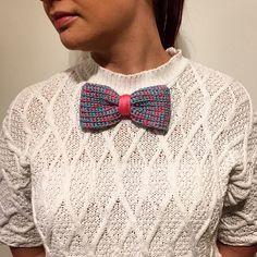 Casual+Bow+Tie+Brooch+-+handmade+knitted+from+bowtieSimo+by+DaWanda.com