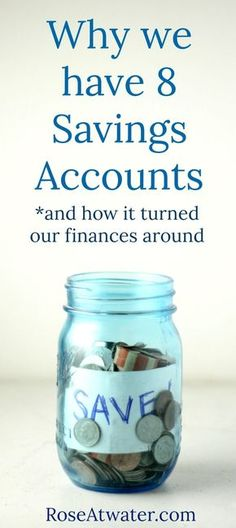 Why We Have 8 Savings Accounts RoseAtwater – Finance tips, saving money, budgeting planner Ways To Save Money, Money Tips, Money Saving Tips, Money Budget, Financial Peace, Financial Tips, Financial Planning, Financial Literacy, Budgeting Finances