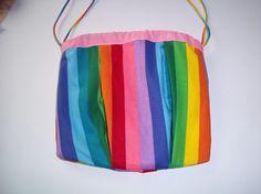 Rainbow drawstring bag by cyndioriginals on Etsy, $10.00
