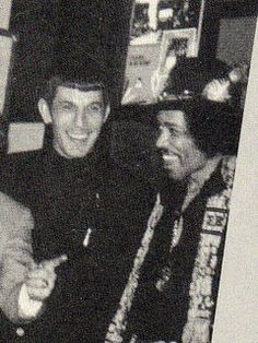 Leonard Nimoy and Jimi Hendrix.