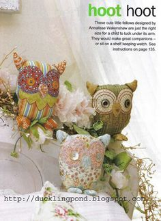 free stuffed owl template - a good starting point for making my own mini owls for baby's earthy mobile.