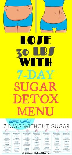 If we are being honest, then it is the time that you need a sugar detox. We all know the dangerous effects that it can have for our health. Health Advice, Health And Wellness, Health Fitness, Get Healthy, Healthy Tips, 7 Day Sugar Detox, Usa Health, Health Trends, Health Recipes