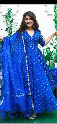 Indian Bollywood Designer Printed Rayon Blue Anarkali Kurti With Dupatta . Diwali Christmas Special For Women/Girls. Free Shipping In USA/UK