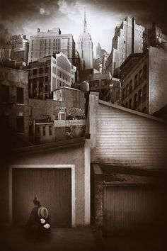 Tommy Ingberg - Dusk. From the Cityscapes series. S)