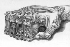 What's Wrong With Today's Society Captured In Though-Provoking Illustrations By Al Margen Art Chicano, Chicano Drawings, Creepy Drawings, Dark Art Drawings, Amazing Drawings, Drawing Sketches, Drawing Art, Art Du Croquis, Prison Art