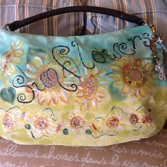 Hand painted purse for summer
