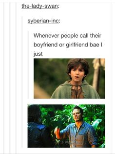 """For reals.. - I don't get why someone would call their bf/gf """"bae"""" and not """"babe"""". But this is funny."""