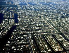 My home - Aerial view of Cape Coral, Florida. There are 400 miles of canals!