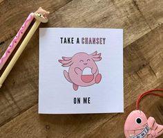Chansey Pokemon Valentine Cards, Valentines, Geek Culture, Nerdy, Birthday Cards, Geek Stuff, Scrapbook, Cool Stuff, Books