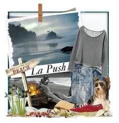 """La Push"" by doozer ❤ liked on Polyvore featuring moda, J.Crew, RVCA y Keds"