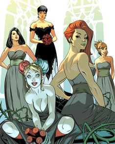 Selina Kyle With Her Bridesmaids