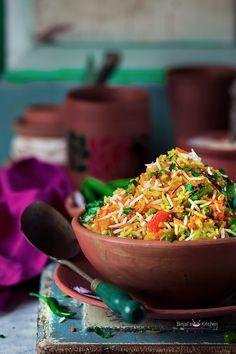 Hyderabadi Veg Biryani very popular traditional authentic delicious royal dish. Hyderabadi Veg Biryani prepared with rice, masala, mixed vegetables, yogurt. Hyderabadi Cuisine, Veg Biryani, Cooking Recipes, Healthy Recipes, Healthy Food, Bean Recipes, Rice Recipes, India Food, Mixed Vegetables