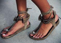 Isabel Marant spring/summer sandals.