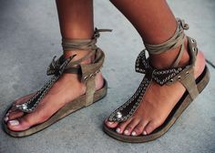 Isabel Marant spring/summer sandals.