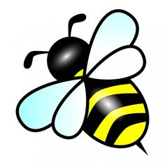 free cute bee clip art an illustration of a cute bee free stock rh pinterest com honey bee clipart free honey bee clip art 100% free