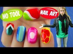 No Tool Nail Art! 5 Nail Art Designs & Ideas Without Any Nail Art Tools - YouTube