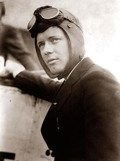 Charles Lindbergh--a brave, handsome man.  Too bad he had strong fascist sympathies.