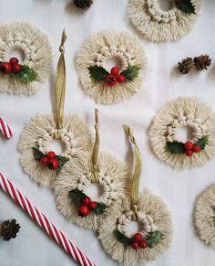 "@elusive_line ""Little macrame ornaments 🌲🌲🌲 . . . . . . #macrame #macramemaker #macramelove #modernmacrame…"" Christmas Wreaths, Christmas Decorations, Christmas Ornaments, Holiday Decor, Macrame, Home Decor, Decoration Home, Room Decor, Christmas Jewelry"