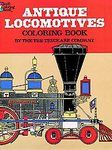Antique Locomotives Coloring Book by Tre Trycka and Tre tryckare, Cagner &...Free US shipping Uncolored