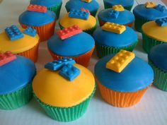 These Lego cupcakes are so cute...and other great Lego ideas including a Lego cake stand!