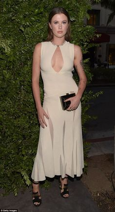 Out for the night: Ireland Baldwin attended the Salvatore Ferragamo Celebration of 100 Years in Hollywood on Wednesday in Beverly Hills