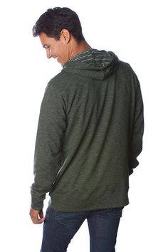 Baja Stripe French Terry Pullover Hooded Sweatshirt
