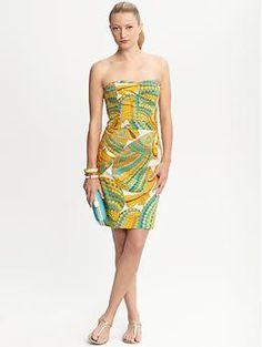 80008e82214 Trina Turk for Banana Republic Pisces strapless dress