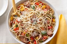 Grandma may not be ready to reveal her sausage-and-peppers recipe, so make this version instead—a simple, yet bold, twist on the classic pasta dish.