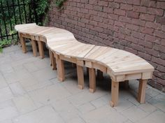 THERE ARE FOUR 36 INCH FAN BENCHES MADE FOR SEVERAL CUSTOMERS IN CALIFORNIA!  THEY CAN BE PLACED TOGETHER TO MADE DIFFERENT PATTERNS.  THIS IS A CURVY PATTERN