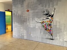 """Dancer"" by Norwegian artist, Martin Whatson at Wynwood Walls in Miami"