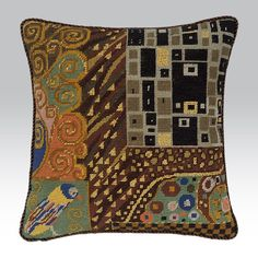 Tapestry kit inspired by Klimt, designed by Candace Bahouth.  Cross-stitch.
