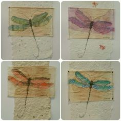 "Tea Bag Treasure's Suzanne LeLoup-West ""Dragonfly's"" Suzanne@suzannes-art-studio.com Etsy: SuzannesArtStudio"