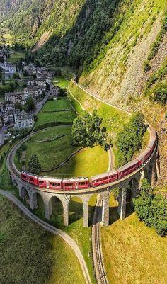 Switzerland Travel Inspiration - Brusio, Switzerland