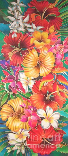 Fiji Flowers Iii Poster By Maria Rova